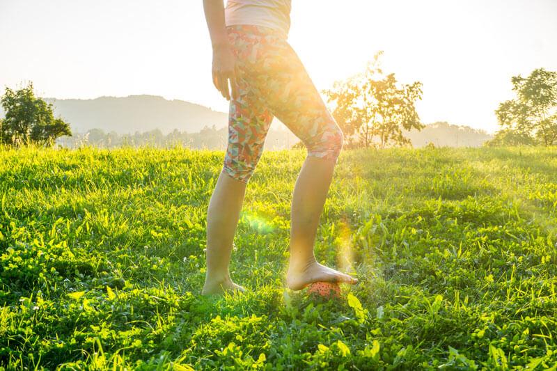 Faszien Yoga Übung für Füße