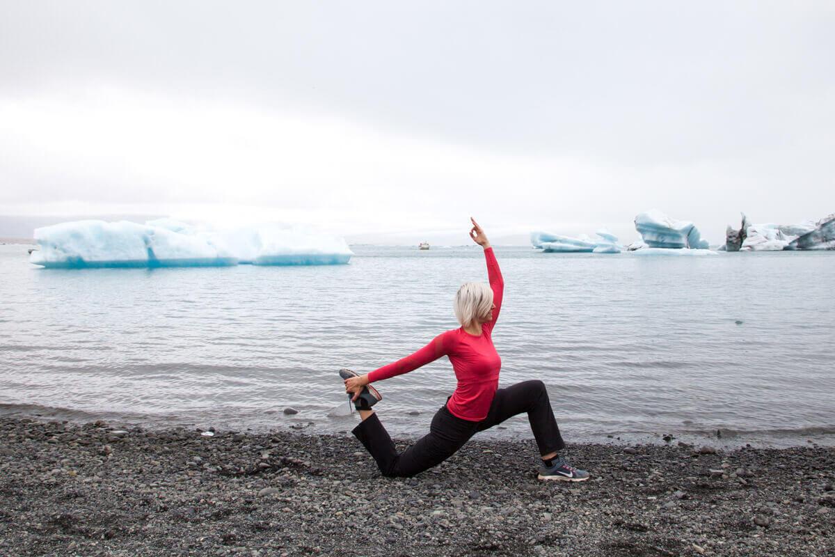 Oberschenkeldehnung Yoga