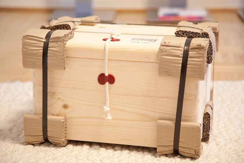 Paket aus Zirbenholz
