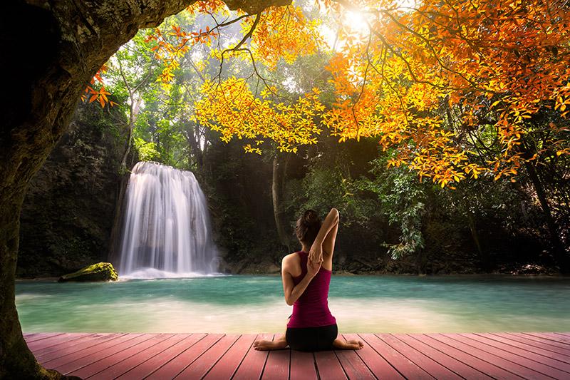 Stressreduktion mit Yoga